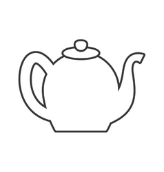Tea kettle icon tea design graphic vector