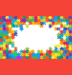 The colorful background puzzle frame of puzzles vector