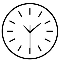 time clock isolated icon for web design simple vector image