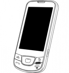 Vector mobile phone vector