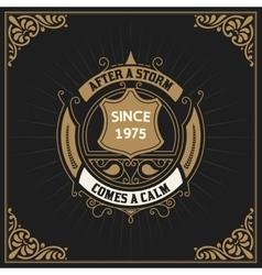 Vintage label premium vector image