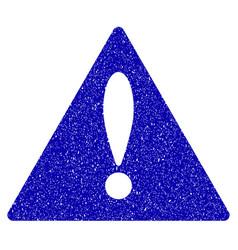 Warning icon grunge watermark vector