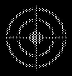 white dotted target bullseye icon vector image