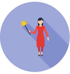 woman dusting vector image
