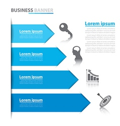 Business arrow banner infographics vector image vector image