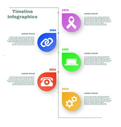 Colorful Timeline Infographics vector image vector image