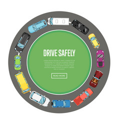 drive safely poster in flat style vector image