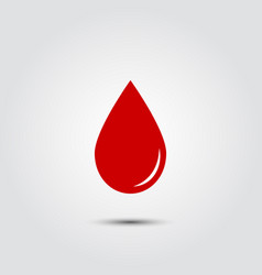 red blood drop icon vector image vector image
