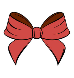red bow icon cartoon vector image