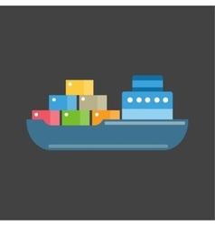 Sea ship transport vector