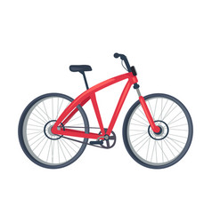 bike of red color poster vector image vector image