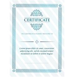 Certificate of achievement vintage frame vector