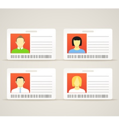 Collection of an id cards vector