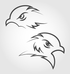 Icon eagle heads outline style vector image
