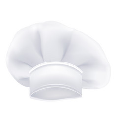 photorealistic white chef or cook or bakers hat vector image vector image