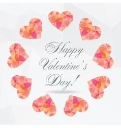 Polygon Hearts - vector image vector image