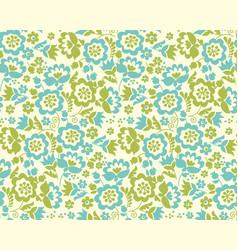 Retro style summer flower seamless pattern in vector