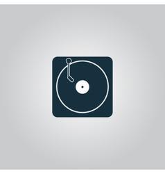 Turntable dj icon vector image vector image