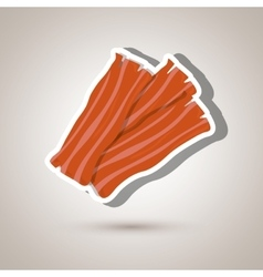 bacon isolated design vector image vector image