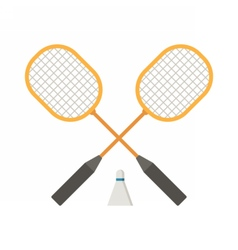 Badminton Rackets and Volant vector image