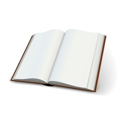Blank pages of open books vector image