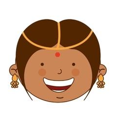 Hindu girl character icon vector