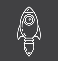 Start up line icon business and rocket vector
