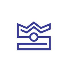 crown camera logo vector image vector image