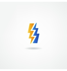 electricity icon vector image vector image