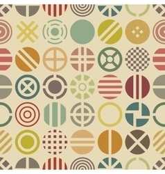 Geometric seamless pattern with round shapes vector image vector image