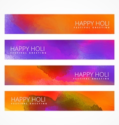 holi festival banners vector image vector image