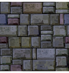 seamless texture of stonewall vector image