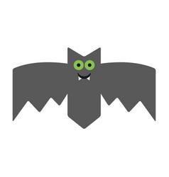 smiling cheerful bat emotional vampire the vector image