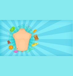 tailor horizontal banner cartoon style vector image vector image