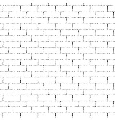white brick wall silhouette vector image