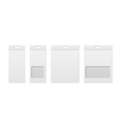 3d realistic blank paper white product vector image