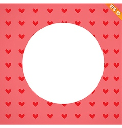 A seamless background of hearts on background vector image