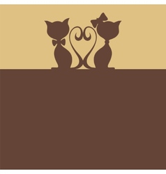 Abstract background with two cats vector image