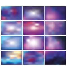 Abstract blurred backgroundsBluelilac vector image