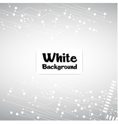 Abstract connecting dots and line white background vector