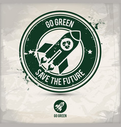 alternative go green stamp vector image