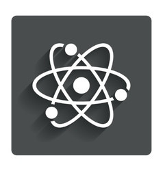 Atom sign icon Atom part symbol vector