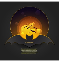 Banner bat in orange vector image