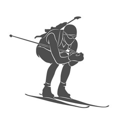 biathlon abstract sport vector image
