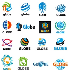 Biggest collection logos globes vector