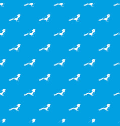 Bird pattern seamless blue vector