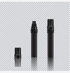 Black marker realistic broad marker vector