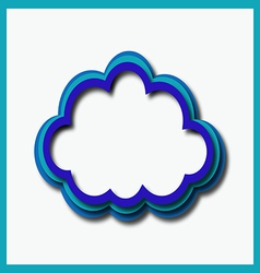 Blue web cloud vector