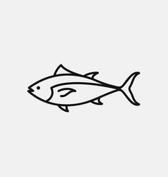 Bluefin tuna icon logo design simple flat vector