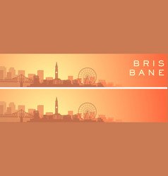 brisbane beautiful skyline scenery banner vector image